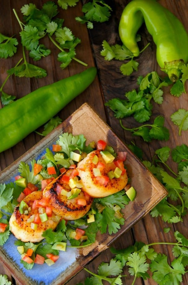 Roasted Hatch Chile Seared Scallops - plus 49 more fabulous Hatch Chile recipes!