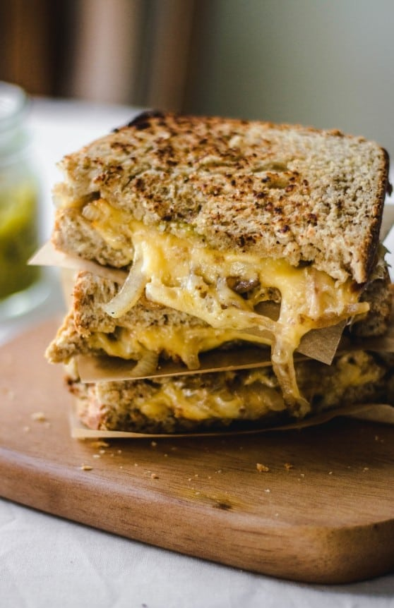 Hatch Chile Grilled Cheese with homemade wheat bread - plus 49 more fabulous Hatch Chile Recipes!