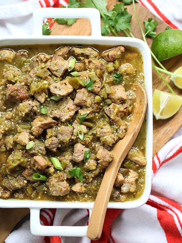 Slow-Cooker Hatch Green Chile Verde - plus 49 more fabulous Hatch Chile Recipes!
