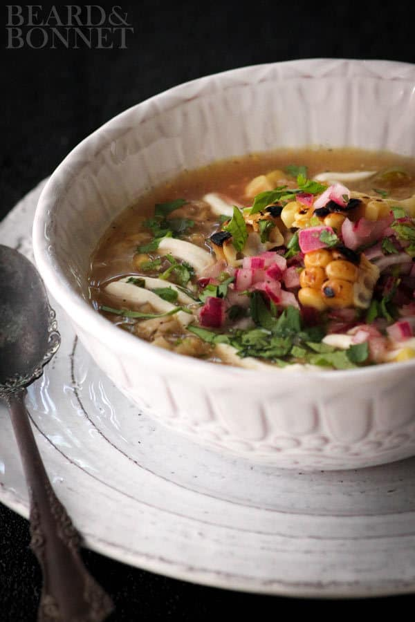 Grilled Mexican Street Corn Soup - plus 49 more Hatch Chile Recipes!
