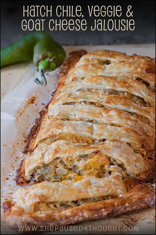 Hatch Chile, Veggie & Goat Cheese Jalousie - plus 49 more fabulous Hatch Chile Recipes!