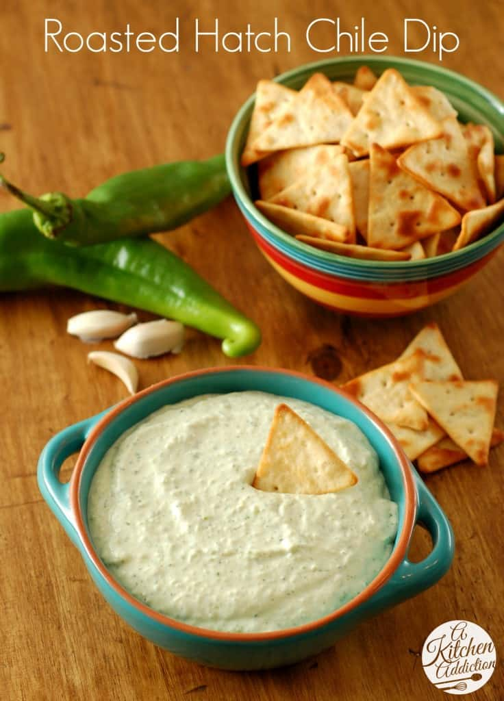 Roasted Hatch Chile Dip - plus 49 more fabulous Hatch Chile recipes!