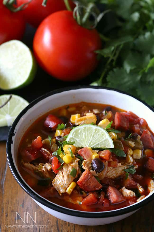 Spicy Chicken Lime Soup - plus 49 more fabulous Hatch Chile Recipes!