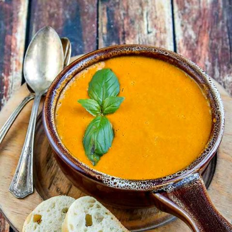 Tomato Bisque with Hatch Chiles - easy, healthy and DELISH!!