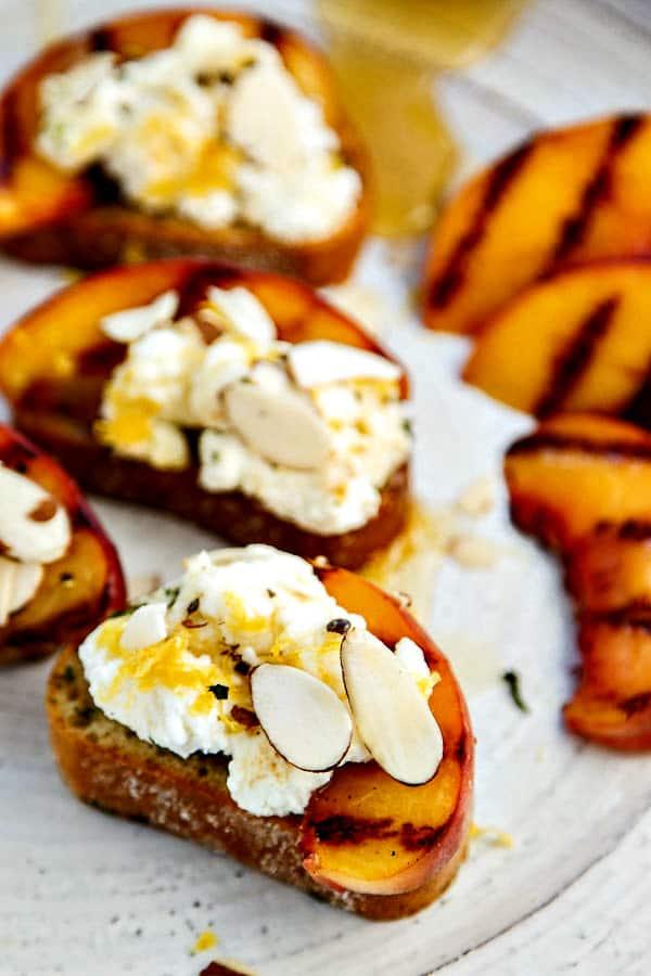 Bruschetta Recipe with Peaches, Lemon Ricotta and Honey ...