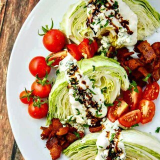 Wedge Salad with Bacon, Blue Cheese and Balsamic