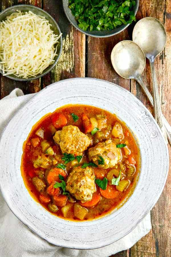 Albondigas Soup is a flavorful Mexican soup made with meatballs and a delicious, hot broth that will warm up your insides!