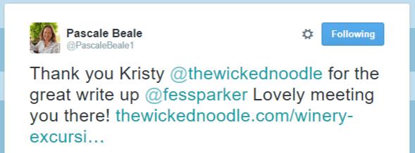 Pascale Beale tweet