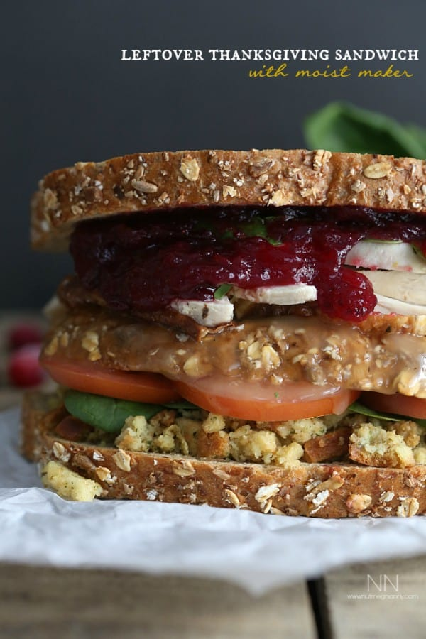 Leftover Thanksgiving Sandwich with Moist Maker PLUS 18 more creative Thanksgiving leftover recipes!