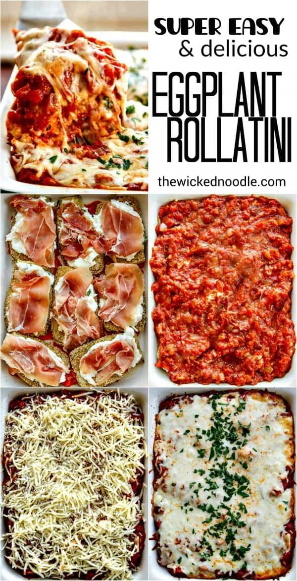 Easy Cheesy Eggplant Rollatini - an easy Italian feast that is soooo good!!