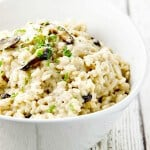 Easy Mushroom Risotto with Gorgonzola