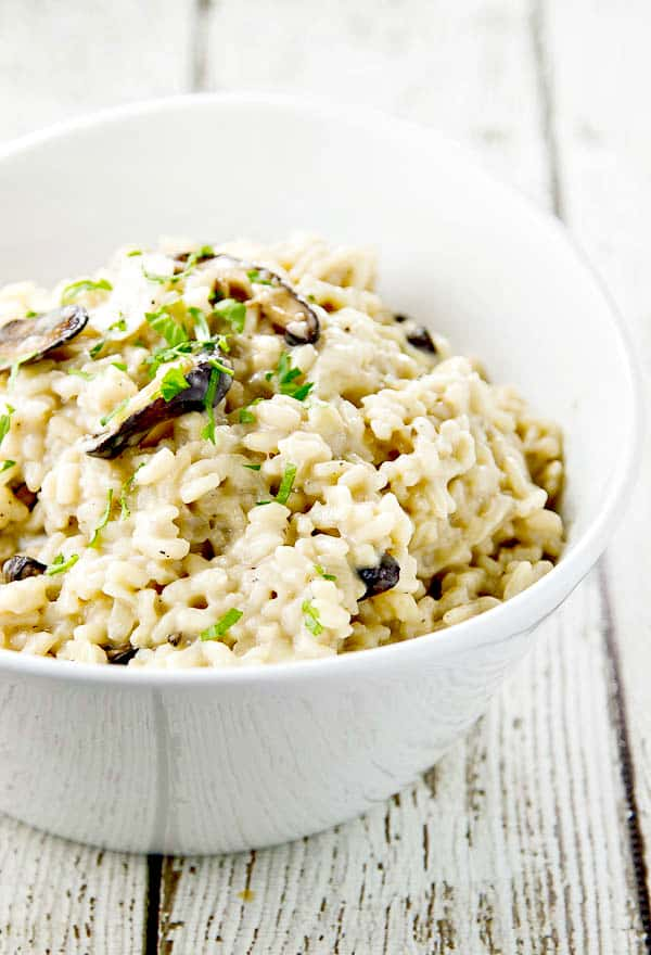 This easy mushroom risotto is sophisticated and has amazing flavor!