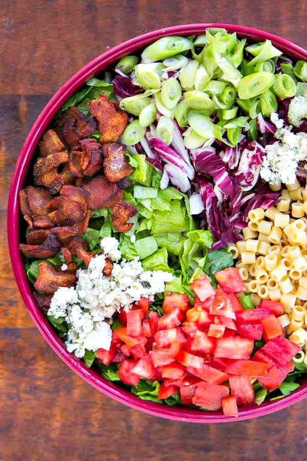 This is the salad that everyone always raves over and must be at every party or dinner! Portillo's Chopped Salad is a copycat but this recipe is even better IMO!