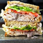 Healthy Turkey Sandwich Recipe with a Black Bean Spread