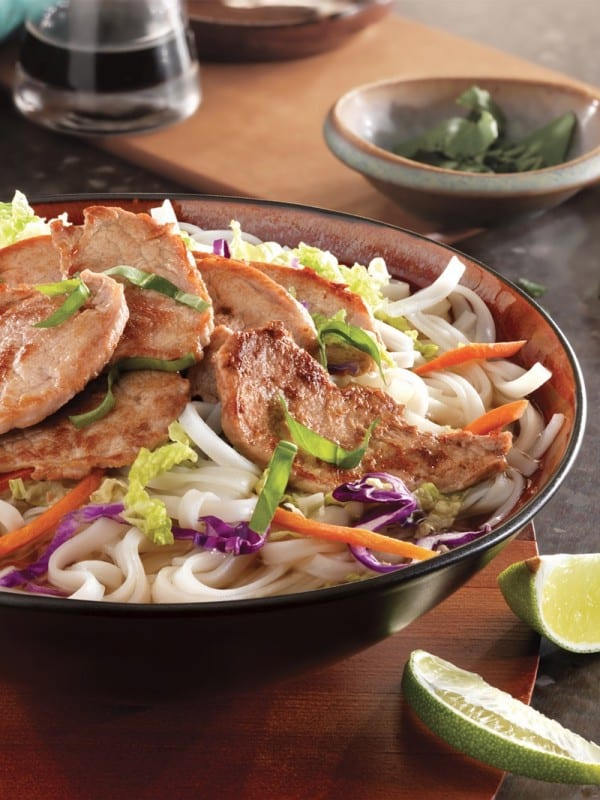 Vietnamese Noodle Bowl plus more delicious pork loin recipes!