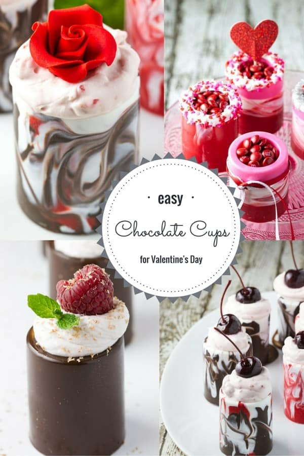 These Chocolate Cups can be filled with a creamy mousse or mini m&m's! Choose to go elegant and upscale or casual with a whimsical twist! SO easy to make and everyone ooh's and aah's!!