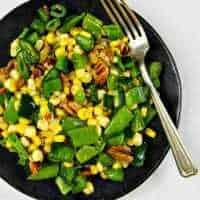 Sugar Snap Pea Salad with Poblanos & Corn