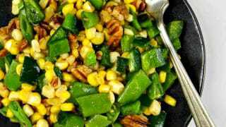 Sugar Snap Pea Salad with Poblanos & Corn