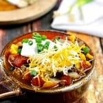 This easy Taco Soup recipe comes together in no time at all yet has so much flavor!