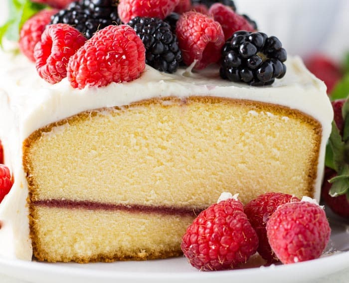 Lemon Cream Cheese Pound Cake - a showstopping, no-bake dessert that DOES taste as good as it looks!