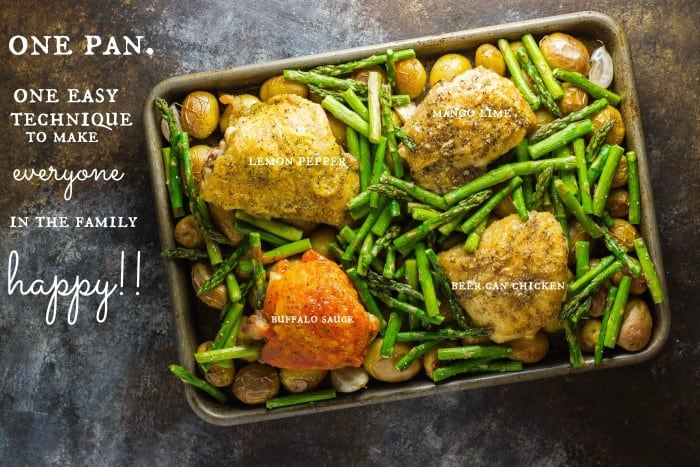 One pan meals oven