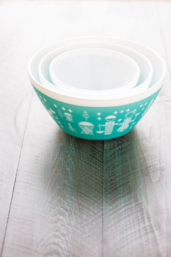 Vintage Charm™ Rise N' Shine 3-pc Mixing Bowl Set, inspired by Pyrex®. I'm giving away a set to one lucky winner!
