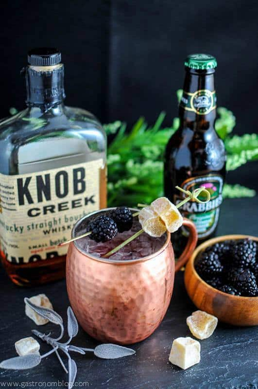 A refreshing twist on a classic drink! Blackberry Sage Mule PLUS 12 more creative Moscow Mule variations!
