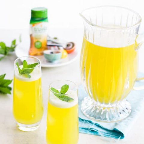 Pineapple Water with Mint