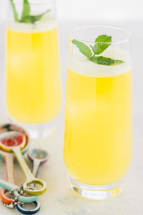 Fresh Pineapple Water with Mint - fresh pineapple, water. a little sweetener and fresh mint! It's so refreshing, healthy and everyone loves it!