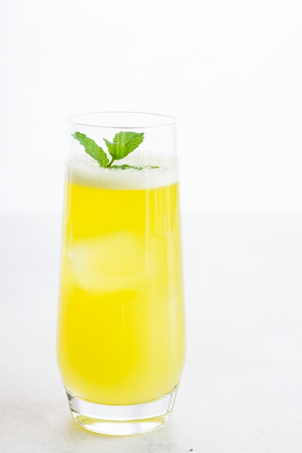 Fresh Pineapple Water with Mint - just a pineapple, water. a little sweetener and fresh mint! It's so refreshing, healthy and everyone loves it!