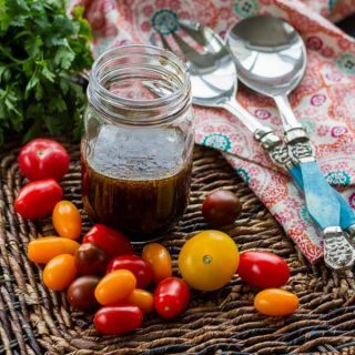 THIS is how to make Italian Dressing! Balsamic instead of white vinegar is what makes it!