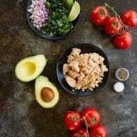 Mexican Tuna Salad Stuffed Avocados