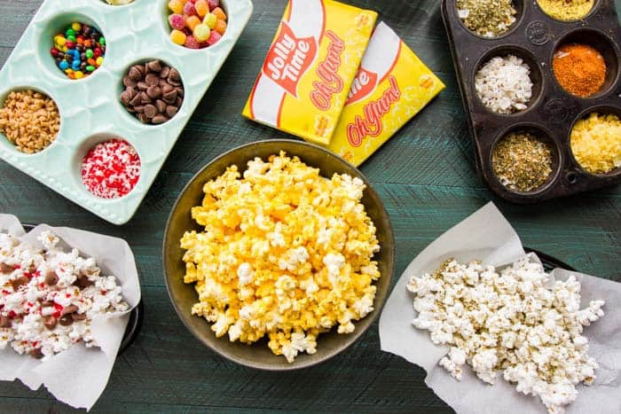 Popcorn Movies Family Fun Night! We make a quick popcorn bar which makes it a special night for everyone (and it's also great for parties)!