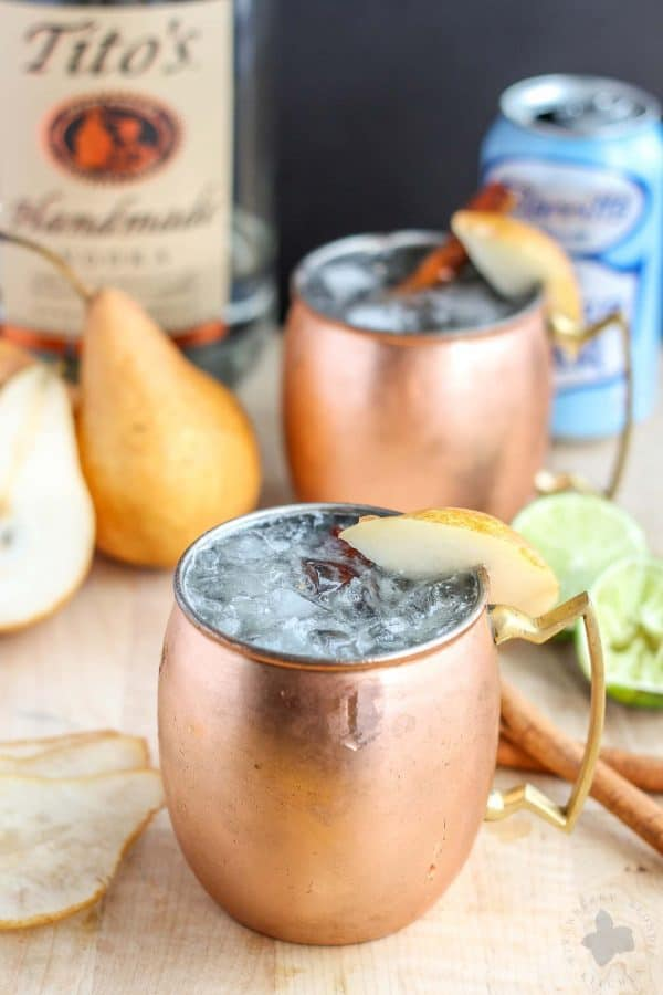 Spiced Pear Moscow Mule plus 12 more creative Moscow Mule variations!