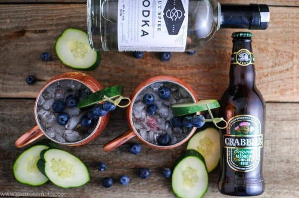 A refreshing twist on a classic drink! Blueberry Cucumber Moscow Mule PLUS 12 more creative Moscow Mule variations!