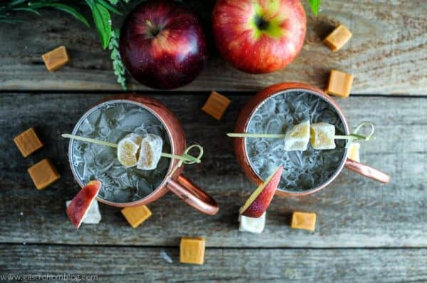 A refreshing twist on a classic drink! Caramel Apple Mule PLUS 12 more creative Moscow Mule variations!