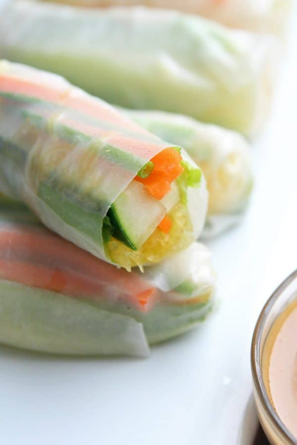 "6-Ingredient Spring Rolls - We've answered the question ""What to do with cucumbers?"" The ULTIMATE list including appetizers, soups, salads, sides and more!"