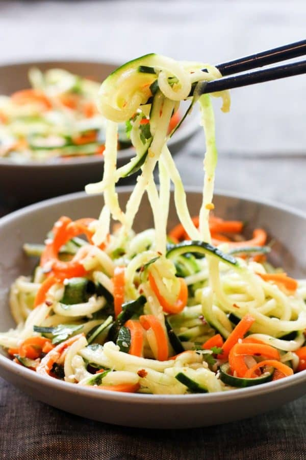 "Asian Cucumber Carrot Salad - We've answered the question ""What to do with cucumbers?"" The ULTIMATE list including appetizers, soups, salads, sides and more!"