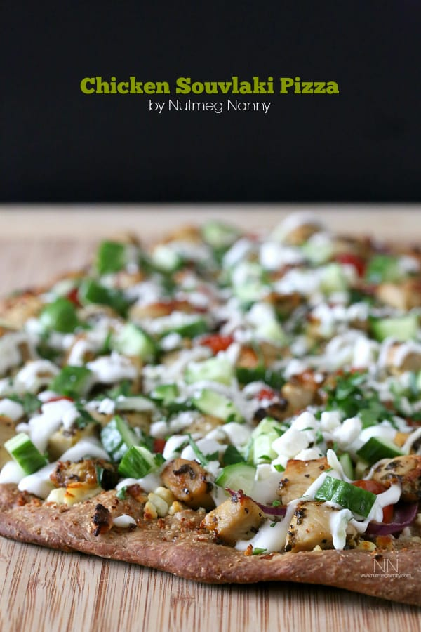 """Chicken Souvlaki Pizza - We've answered the question """"What to do with cucumbers?"""" The ULTIMATE list including appetizers, soups, salads, sides and more!"""