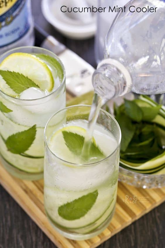 "Cucumber Mint Cooler - We've answered the question ""What to do with cucumbers?"" The ULTIMATE list including appetizers, soups, salads, sides and more!"