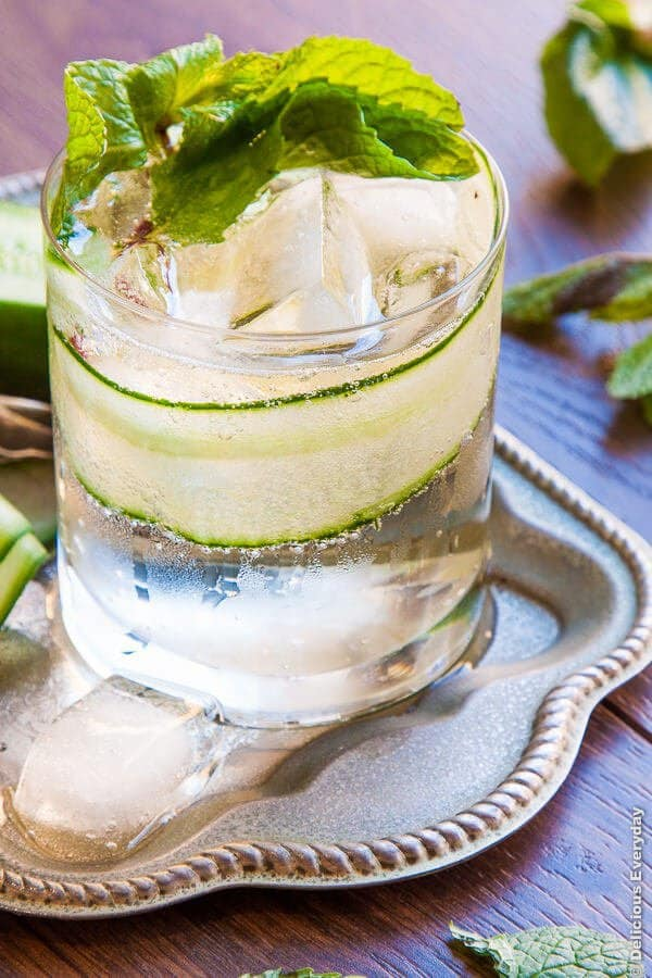"""Cucumber and Elderflower Collins - We've answered the question """"What to do with cucumbers?"""" The ULTIMATE list including appetizers, soups, salads, sides and more!"""