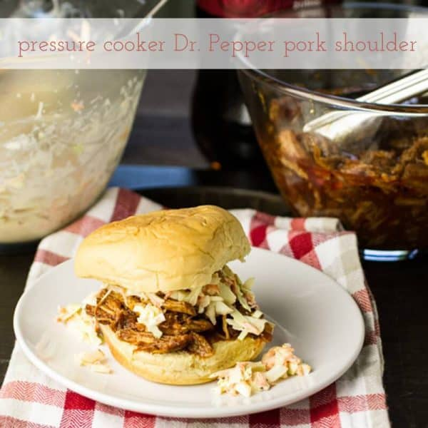 Pork Shoulder & Dr. Pepper BBQ Sauce made in a pressure cooker! PLUS more great Electric Pressure Cooker Recipes!
