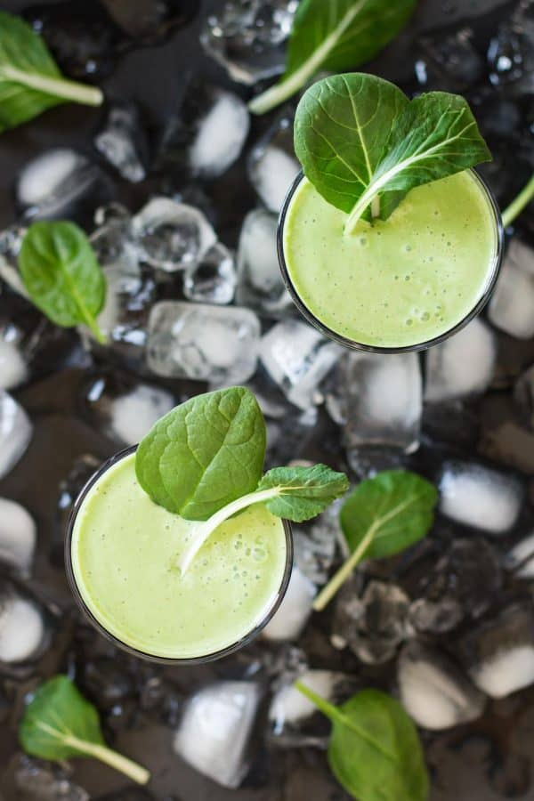 """Greek Yogurt Green Smoothie - We've answered the question """"What to do with cucumbers?"""" The ULTIMATE list including appetizers, soups, salads, sides and more!"""