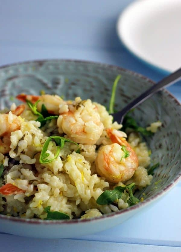 Prawn Lemon & Rocket Risotto made in a pressure cooker! PLUS more great Electric Pressure Cooker Recipes!
