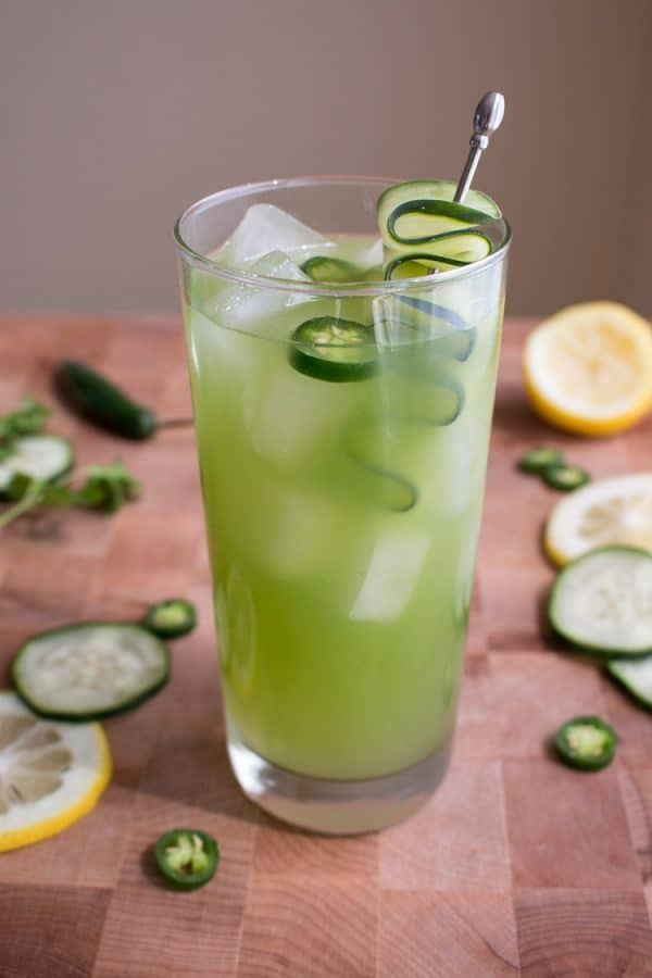 "Spicy Cucumber Cocktail - We've answered the question ""What to do with cucumbers?"" The ULTIMATE list including appetizers, soups, salads, sides and more!"