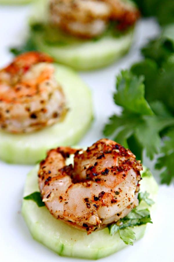 """Blackened Shrimp with Crispy Cucumbers! We've answered the question """"What to do with cucumbers?"""" The ULTIMATE list including appetizers, soups, salads, sides and more!"""