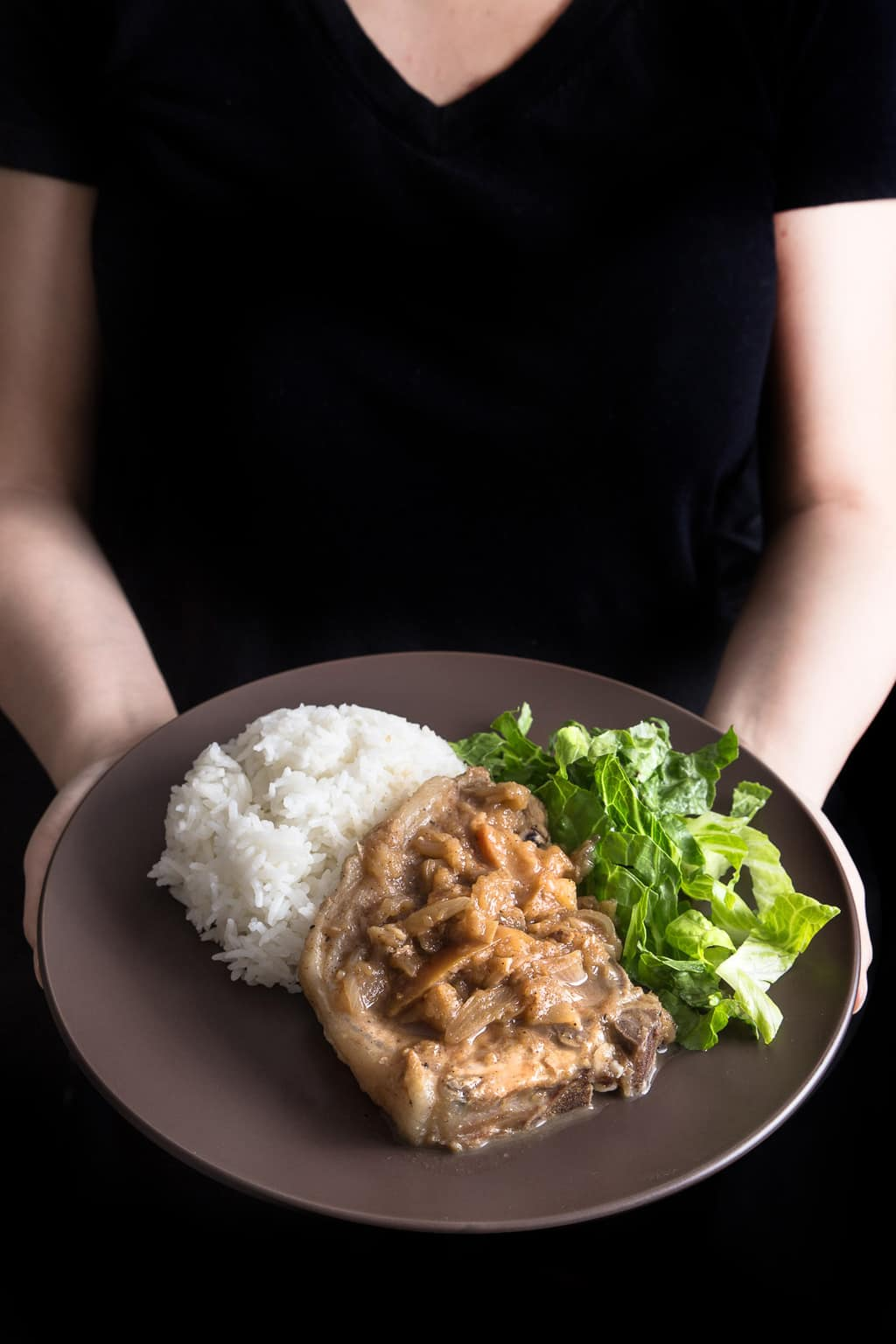 Pork Chops and Applesauce made in a pressure cooker! PLUS more great Electric Pressure Cooker Recipes!