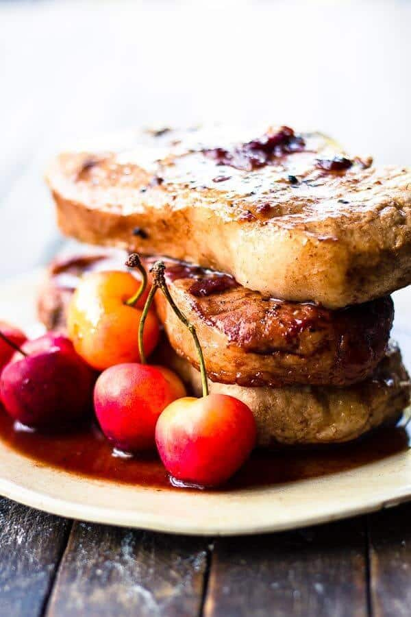 Cherry & Balsamic Crock Pot Pork Chops
