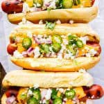 Cheesy Mexican Gourmet Hot Dogs