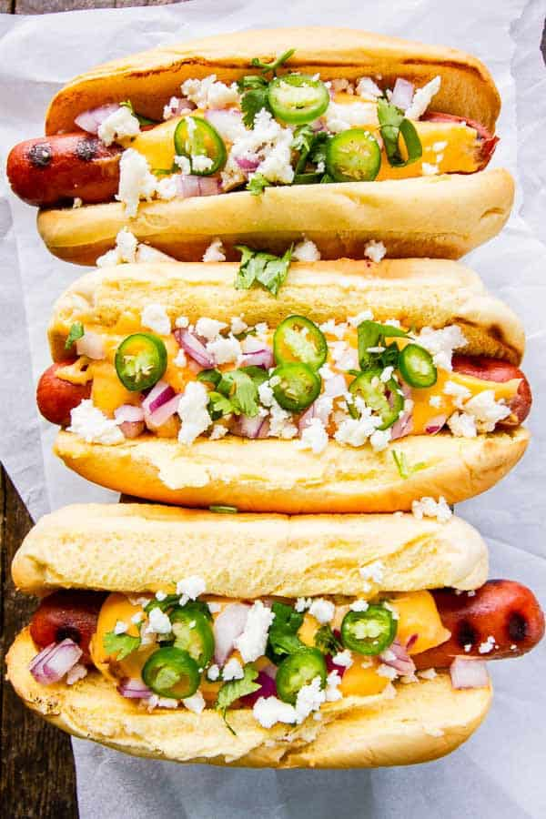 Cheesy Mexican Gourmet Hot Dogs The Wicked Noodle
